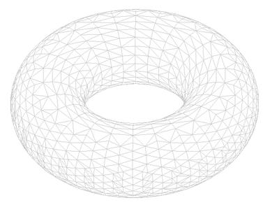 Torus 3D Darstellung mit Netz