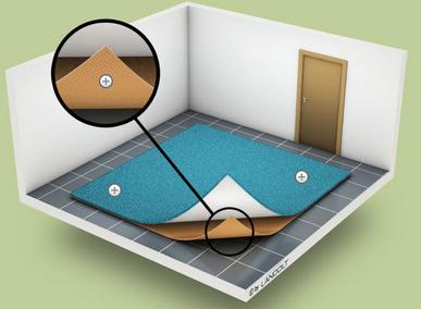 Teppichreinigung-mueden.de, Leistungen, Bild Teppichunterlage