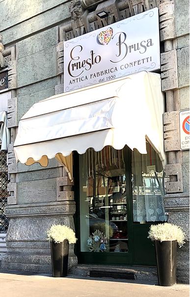 negozio milano ernesto brusa confetti