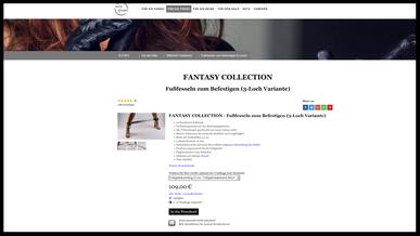 Bondage & BDSM- Fußfesseln - Produktkonfigurator - Beine mit Fußfesseln