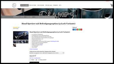 Bondage & BDSM @Love Clamps - Beinfesseln - Konfigurator