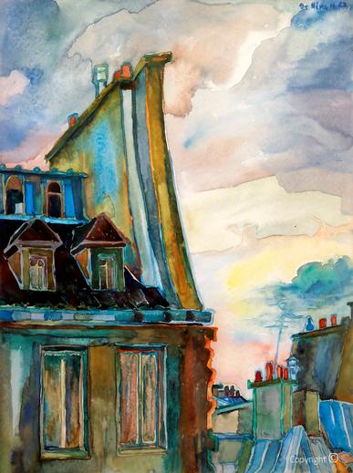 Impressionen der Dächer von Paris, 1967