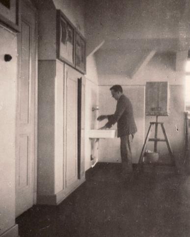 Erwin Bowien in der Kunstakademie in München, 1921