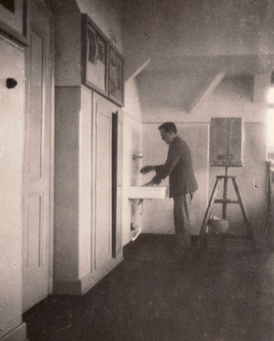 Erwin Bowien at the Art Academy in Munich, 1921