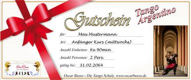 Tango Argenino München Gutschein, Tango Argentino lernen München, Tango München, Tango tanzen München