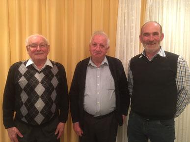 Franz Kropf, Willi Scherrer und Joe Metzger (Präsident)