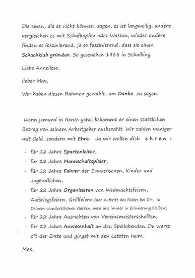 Seite 1 der Dankrede, Dez. 2010,
