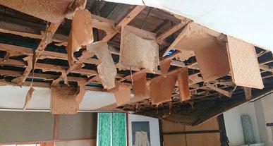 富津市の被災住宅です