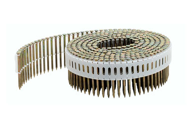 Coilnägel plastikgebunden 2.5 mm Durchmesser 65 mm Länge 0° Ringschaft blank