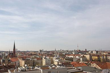 Aussicht vom Dach der Lützowstraße.