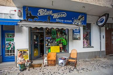 Blue Moon Shoes, Damasckestraße in Berlin.