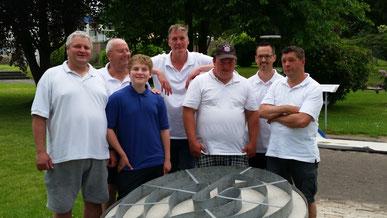 Marcus, Günter, Kai-Erik, Joachim, Sven, Christian und Andreas