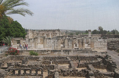 The ancient synagogue of Capernaum