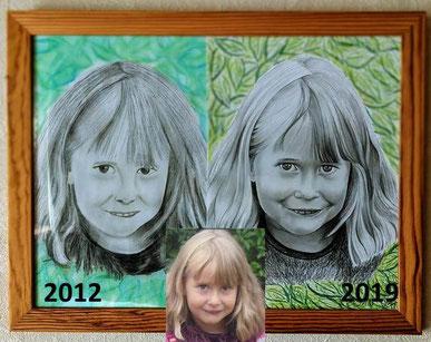 vom foto zur portraitzeichnung - zeichnen lernen - kunst meiner seele