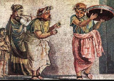 Musici ambulanti - Dalla c.d. casa di Cicerone a Pompei