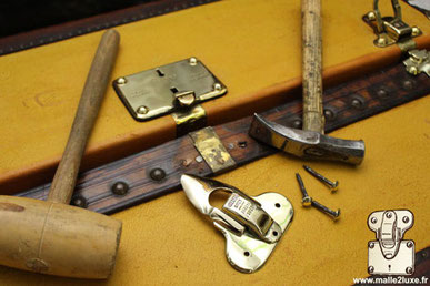 repair of a Louis Vuitton trunk lock know-how