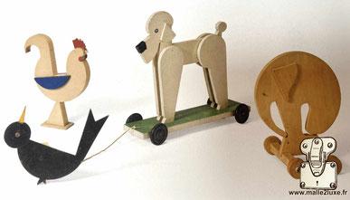 Jeux en bois dessinés et créés exclusivement par Gaston Louis Vuitton.