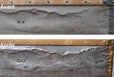 nettoyer zinc malle ancienne
