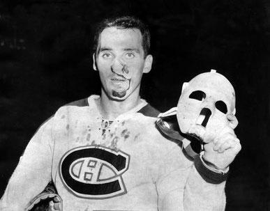 Jacques Plante, Erster Eishockeytorwart mit Maske