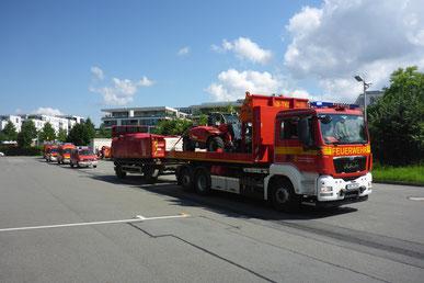 14 Feuerwehrleute sind mit fünf Fahrzeugen am Montag ins Katastrophengebiet aufgebrochen.   Foto: Feuerwehr Heidelberg