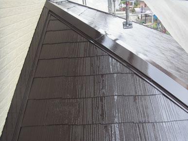 コロニアル屋根塗装工事完成。AFTER 屋根補修済