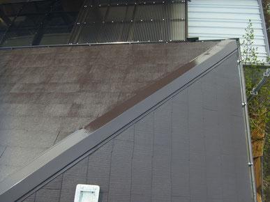 北面コロニアル屋根塗装工事完了。AFTER