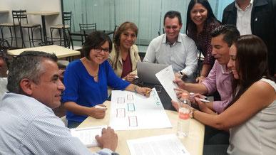 Grupo de Especialización de CONTPAQI Producción planeando la implentación en una empresa productiva de Tequila.