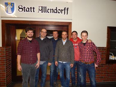 v.l.n.r.: Andre Klammt, Heiko Schwenner, Jörg Gerke, Jens Schüssler, Stefan Kemper, Andreas Neuhaus