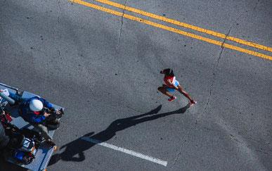Marathonläuferin