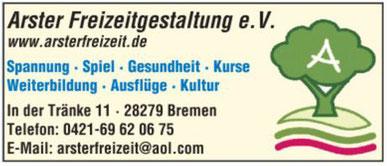 Arster Freizeitgestaltung e.V. in Bremen - Kultur Ausflüge Spiel Gesundheit Kurse Weiterbildung