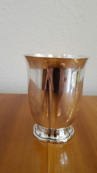 Taufbecher Schweiz Jezler 800er Silber