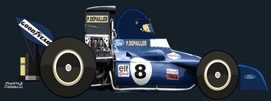 Patrick Depailler by Muneta & Cerracín - Tyrrell 008
