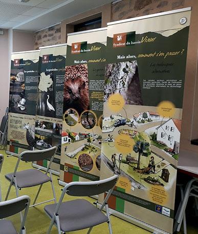 illustration, conception, graphisme, exposition, zéro phyto, nature, biodiversité, bassin versant du Viaur