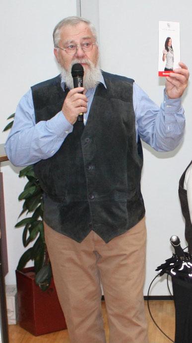Peter Bach bei der Vorstellung der Vereinsziele