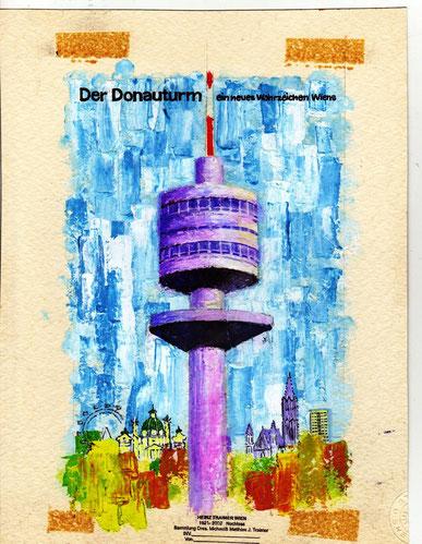 Heinz Traimer. Entwurf für den Prospekt zur Eröffnung des Donauturmes 1966.