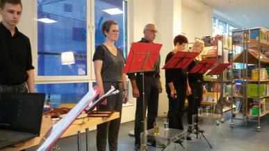 Das Live-Hörspiel Die Leidenschaft der Amalie D. ist eines der Projekte von sprechkontakt