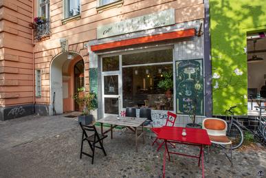 Das Café 7 Schwestern in der Gneisenaustraße.