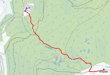 Route durch den Rauriser Urwald zur Durchgangalm