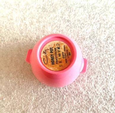 COTY - PETIT POT ROSE EN PLASTIQUE : HONEY POT, FARD A JOUES OU A LEVRES - COLORIS PANSYSHINE