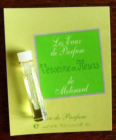 MOLINARD - LES EAUX DE PARFUM : VERVEINE EN FLEURS, EAU DE PARFUM ECHANTILLON-TUBE