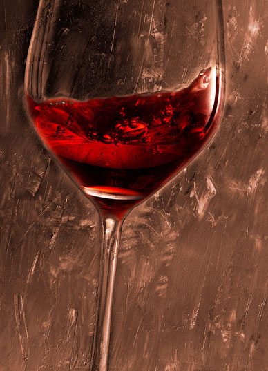 Weingläser 07 auf Leinwand