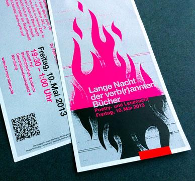 2-seitiger Flyer - mit Leuchtfarbe gedruckt.