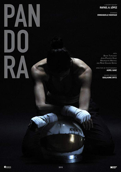 official poster of Pandora short film directed by Rafael A. López