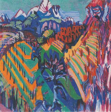 Albert Müller (1897 - 1926), Rebberge im Tessin, 1925