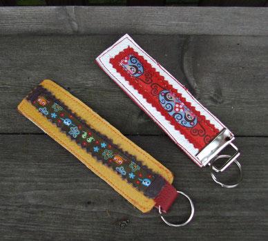 Leder-Schlüsselanhänger Nr. 5  & Nr. 6, die andere Seite