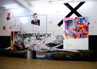 Auszug der Ausstellung HEART CHOR im Erfurter Kunsthaus mit Christian Henkel, 2014