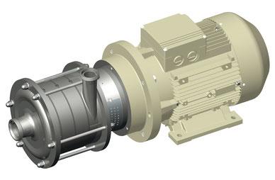 Kreiselpumpe fuer hohen Druck für Ultra- und Nanofiltration, sowie Umkehrosmose