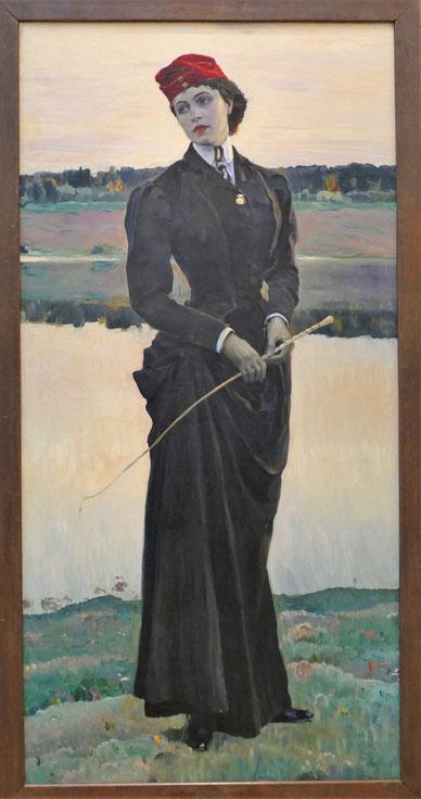 Mikhail Nesterov (1862-1942) : portrait d'Olga Nesterova, sa fille