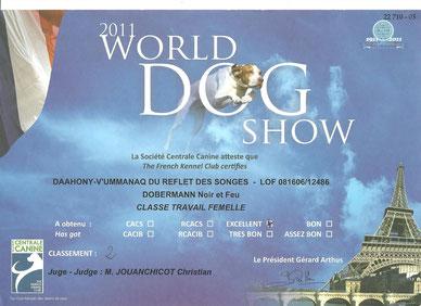 Titre 2ème Exc - Championnat du Monde Paris - 2011