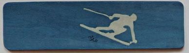 Marque-page Ski de piste - 15 x 4 - Atelier Eclats de bois - Isère